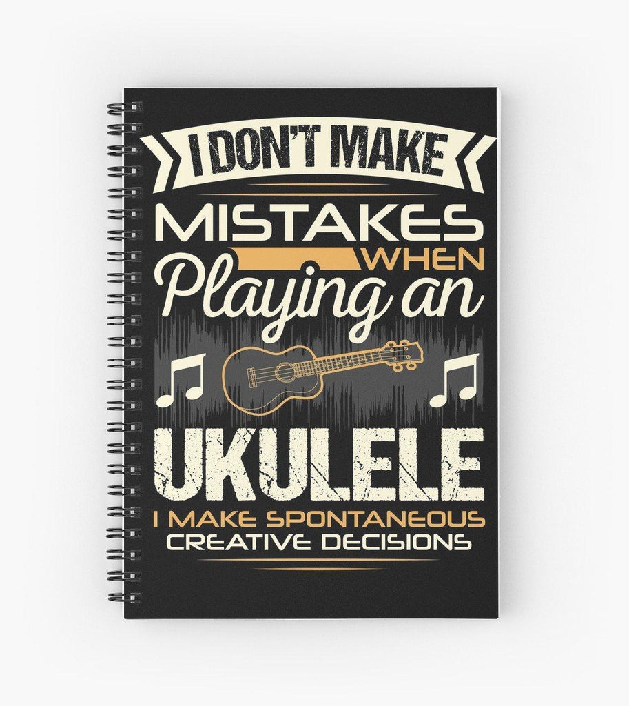 Ukulele Mistakes Spiral Notebook