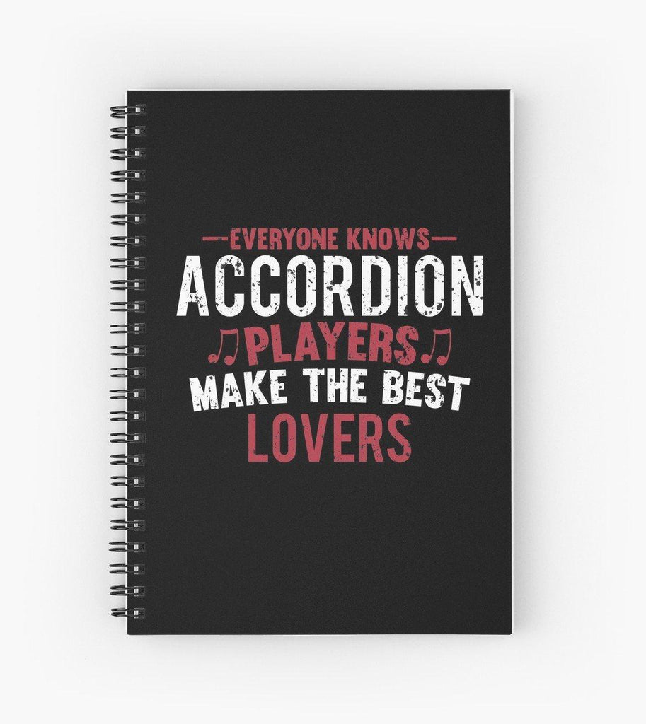 Accordion Players Lovers Spiral Notebook