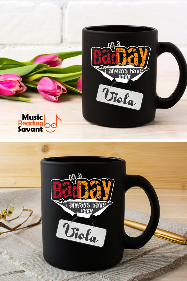 Viola Bad Day Coffee Mug Black