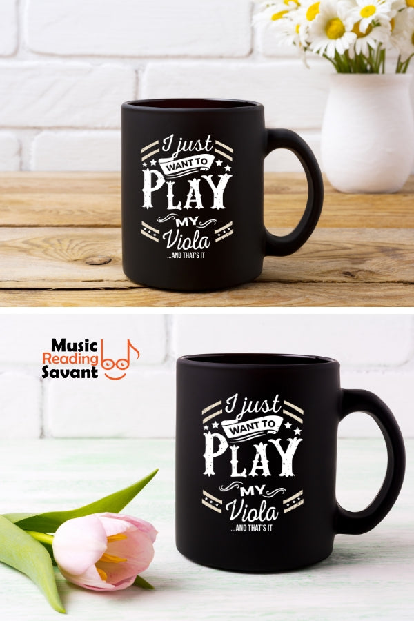 Viola Play Coffee Mug Black