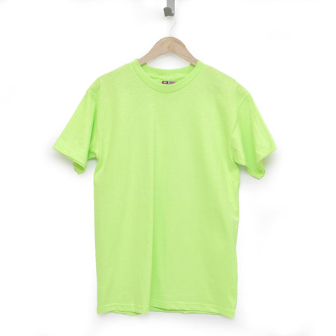 Safety Green 100% Cotton T-Shirt Made in USA