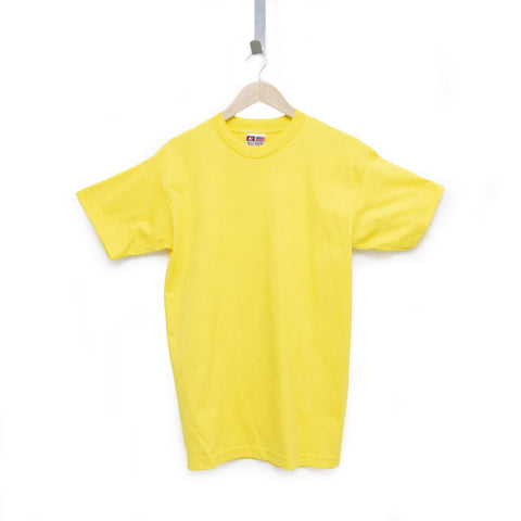 Pacific Yellow 100% Cotton T-Shirt Made in USA