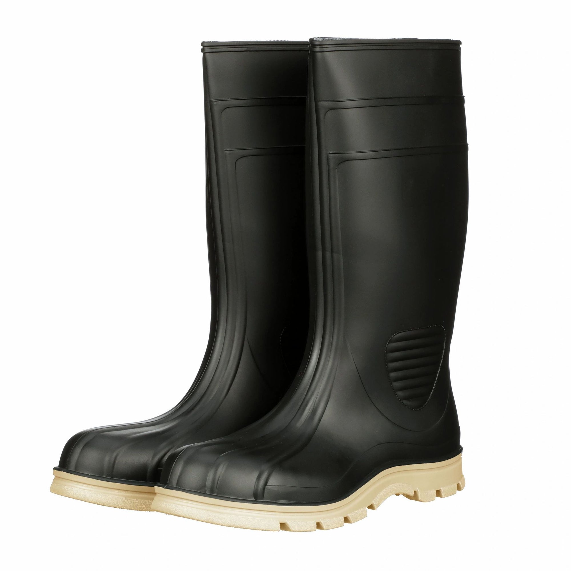 "WorkTuff 15"" Black Plain Toe Polymar Boot"