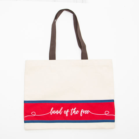ALL AMERICAN CLOTHING CANVAS SPECIALIZED TOTE BAG