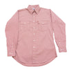 All American Men's Long Sleeve Shirt - Wine Micro Check