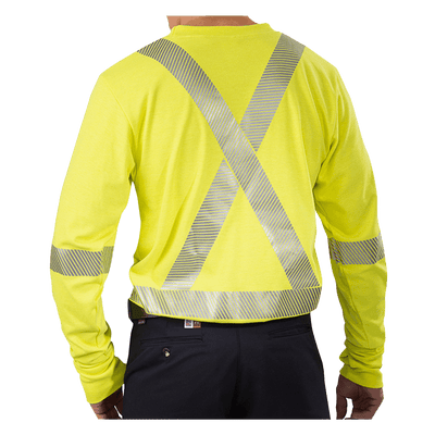High Visibility Athletic Performance T-Shirt with Reflective Material