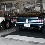 back of mustang