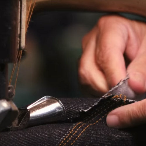 sewing jeans