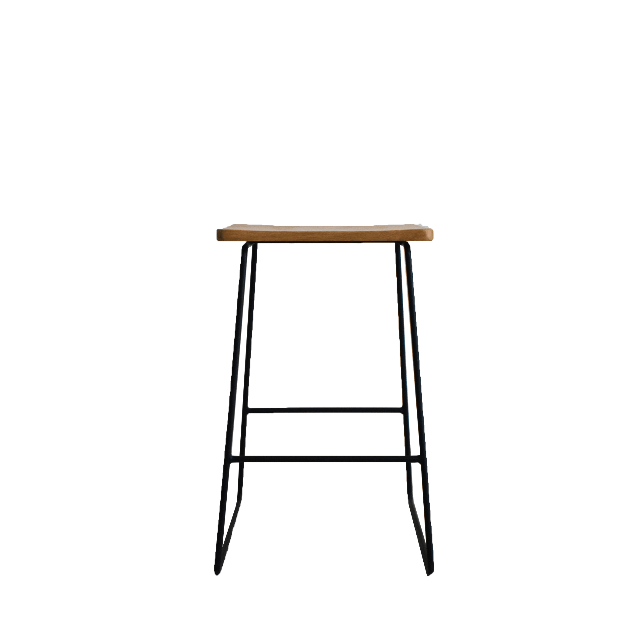 Steel and Oak Stool
