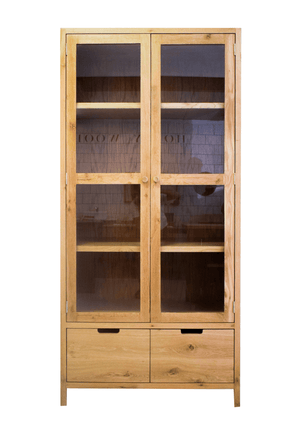 The Scandi Oak Display Cupboard