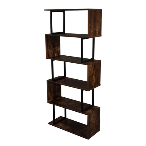 Multilayer Metal Frame Bookcase Rack, Industrial Style