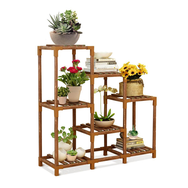 Wooden Plant Stand, Flower Pot Holder, Bonsai Display Shelves for Patio Livingroom Balcony Garden
