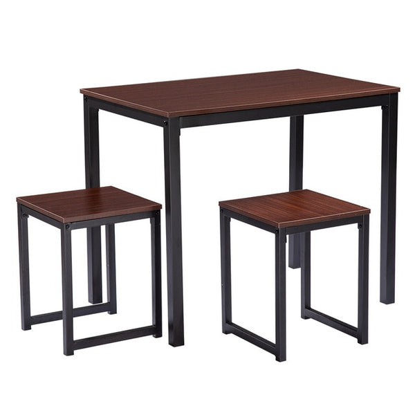 Dining Table Set Simple Wood Grain, Three Piece Dining Table And Chair