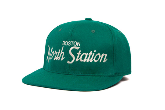 North Station wool baseball cap