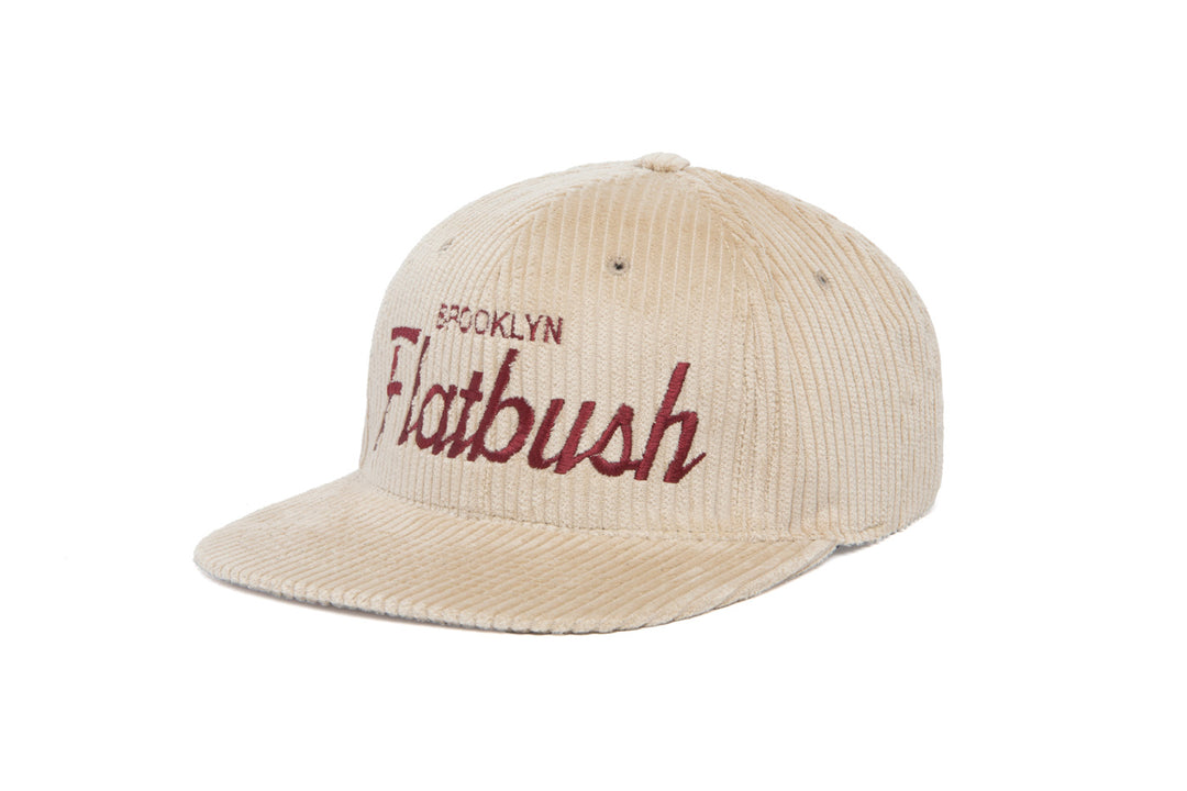 Flatbush Cord wool baseball cap