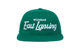 East Lansing wool baseball cap