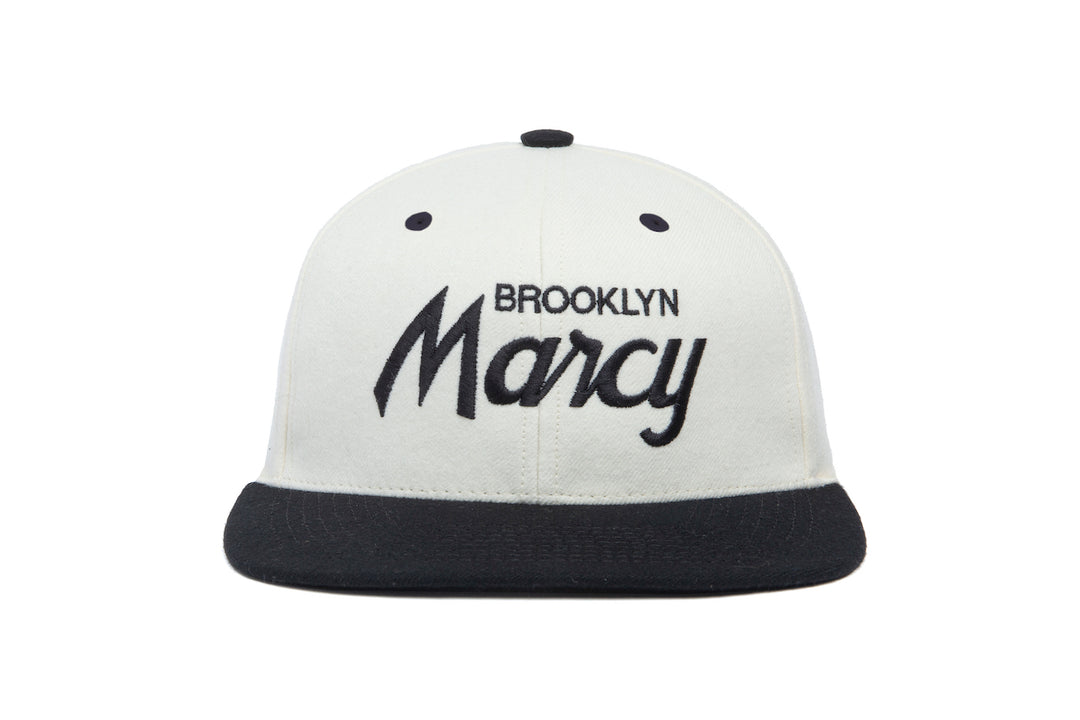 Marcy Two Tone wool baseball cap