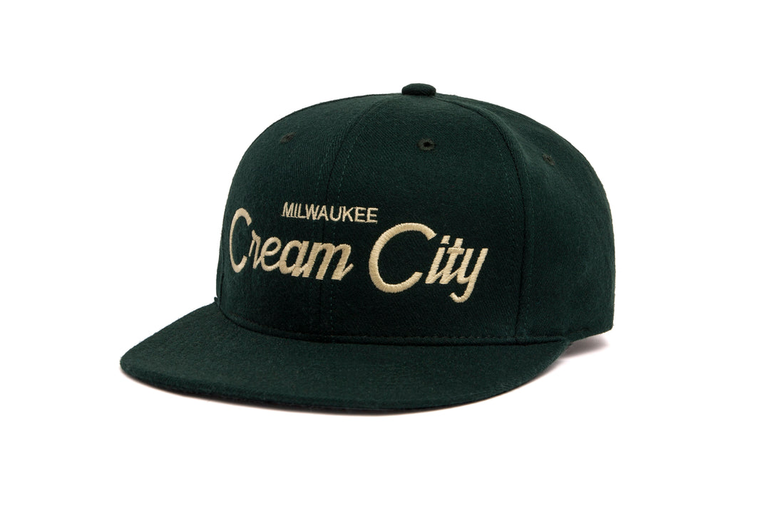 Cream City wool baseball cap