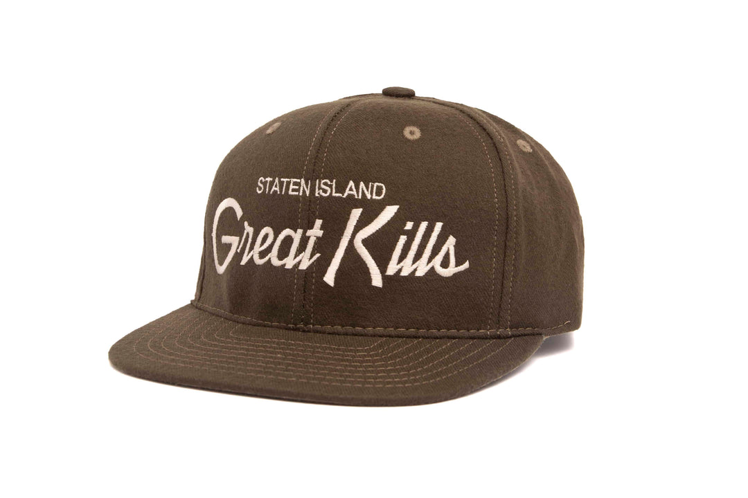 Great Kills wool baseball cap