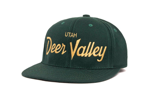 Deer Valley wool baseball cap