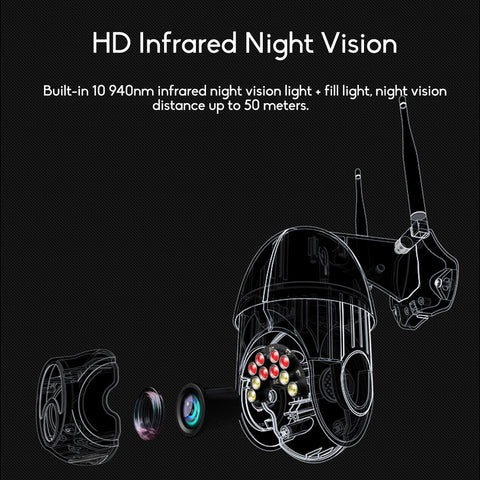Outdoor wifi security camera night vision