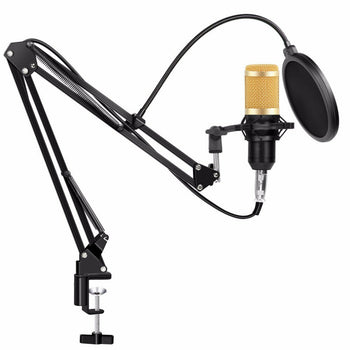 Condenser Microphone Kit Pro Studio Audio Recording Arm Stand Mount