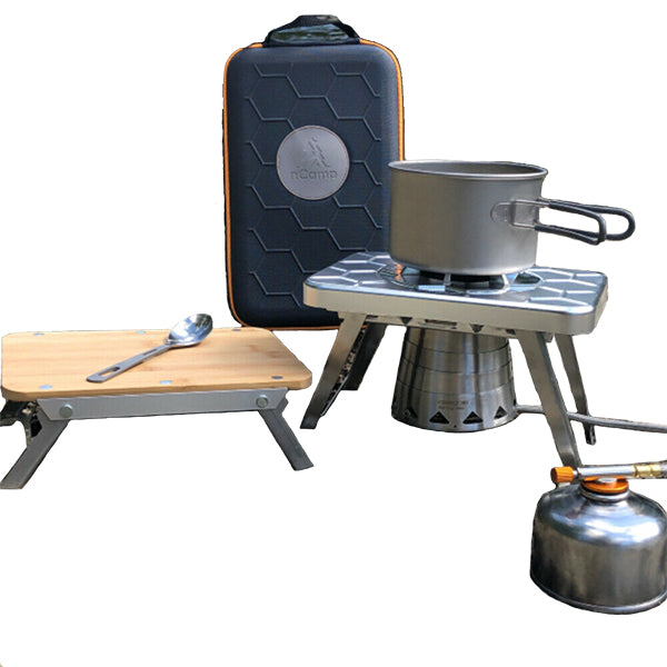 Camping Stove - 4 Piece Wood Propane Camping Stove - Backpacking Stove