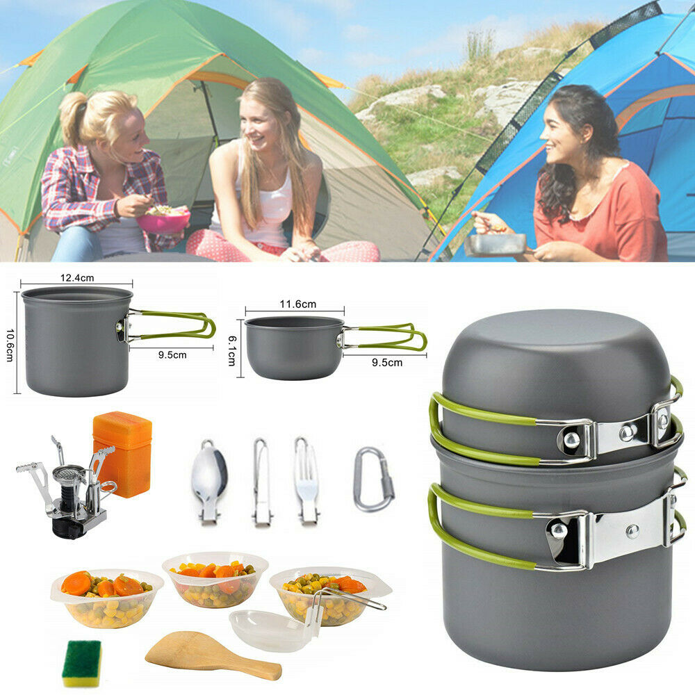 Camping Stove with Cookware