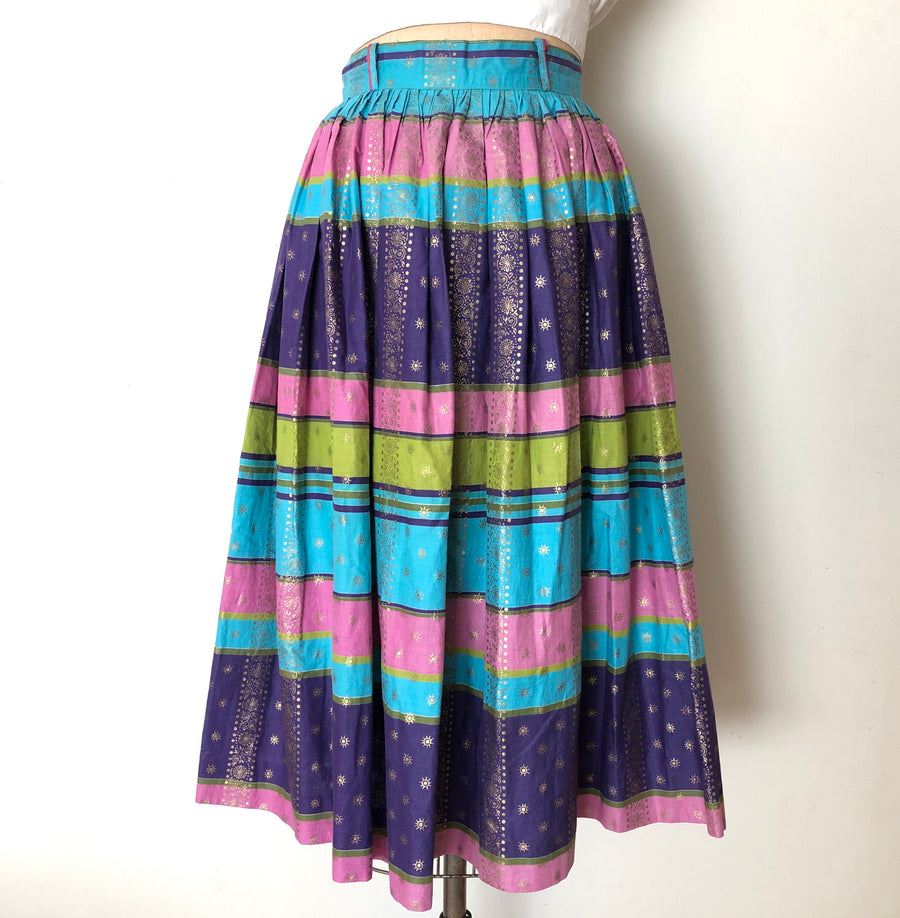 Vintage 1950's Metallic Striped Skirt