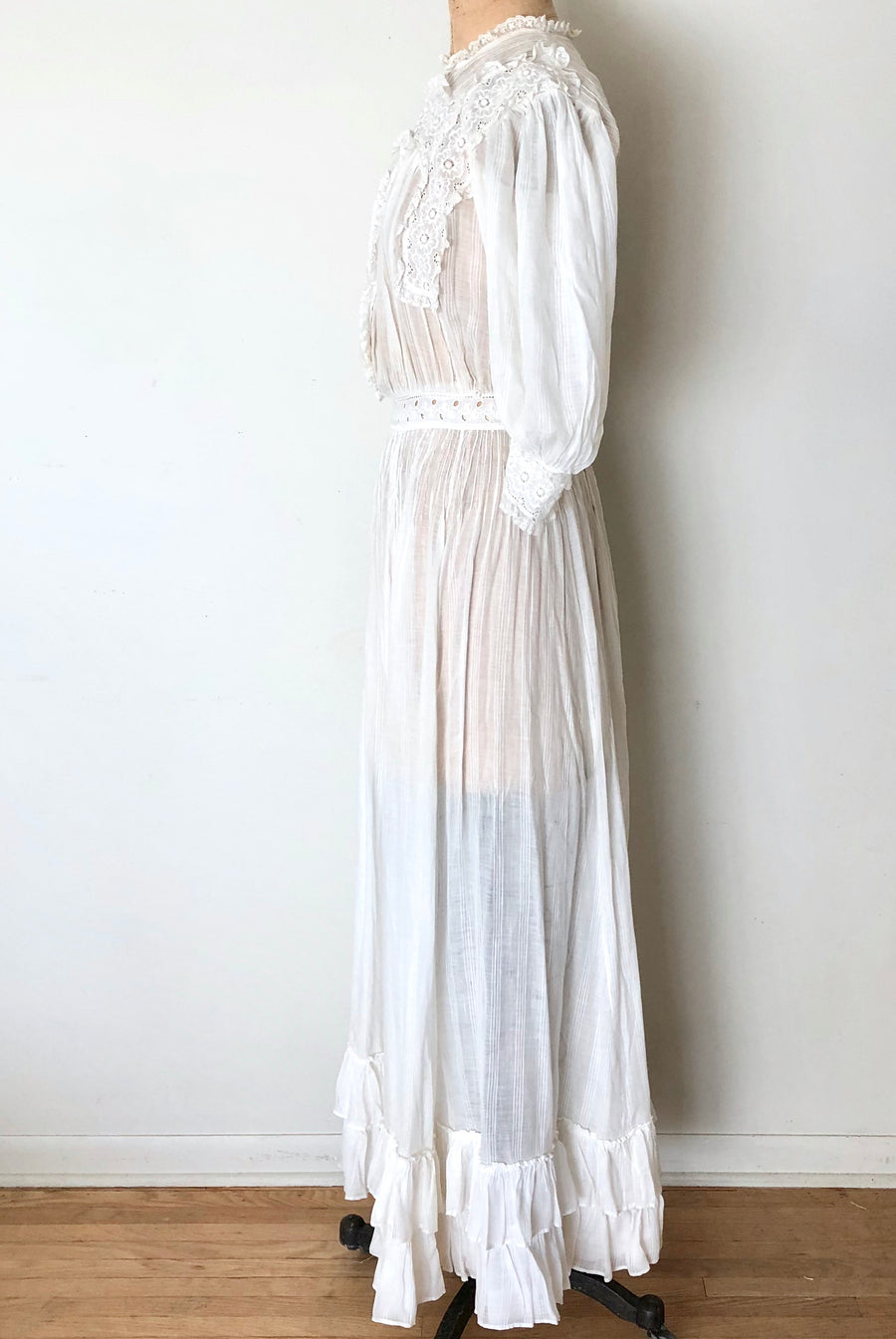 Vintage Edwardian Lawn Dress - Bohemian Wedding Dress