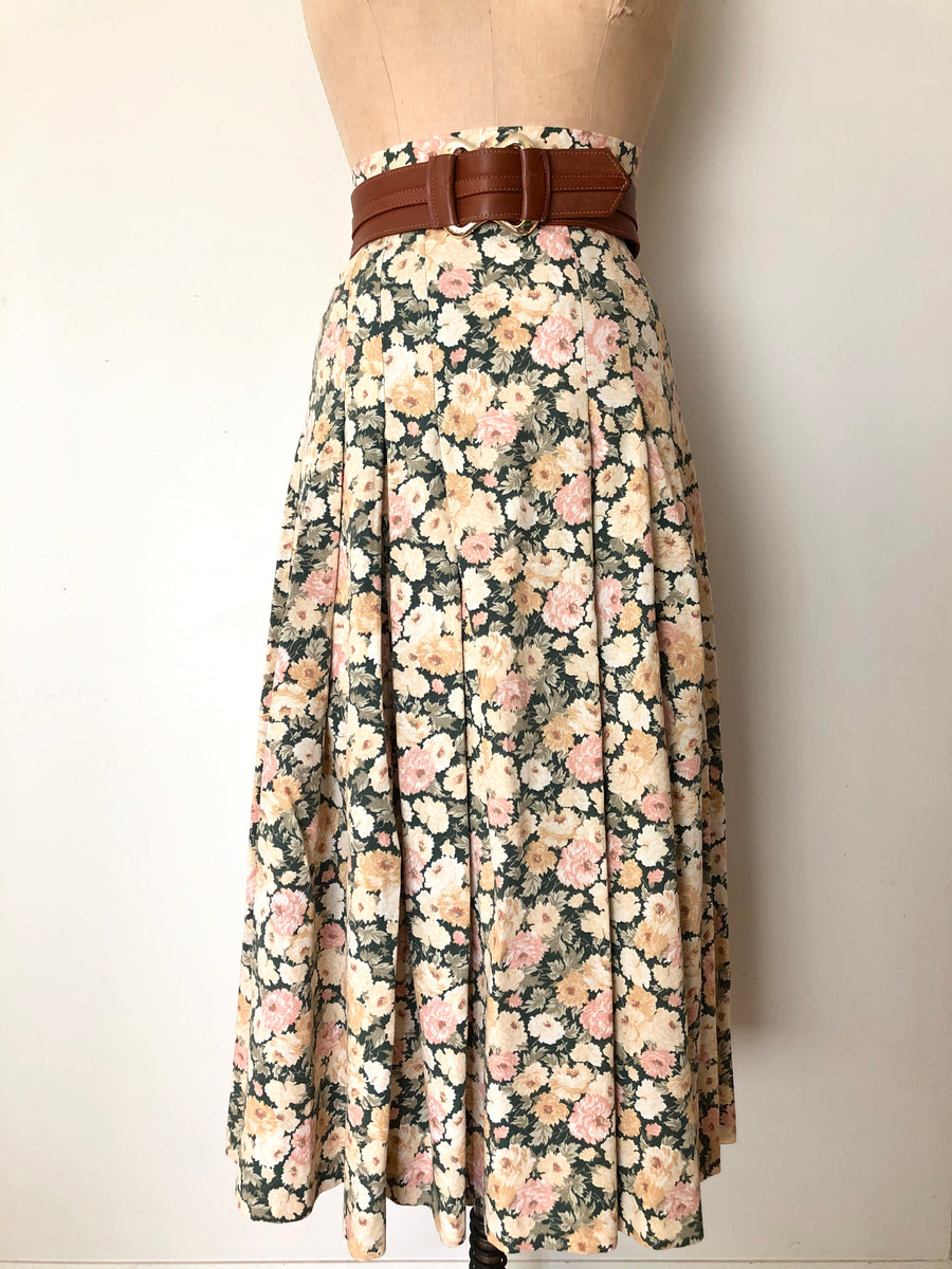 Vintage Floral Laura Ashley Skirt - Size XS