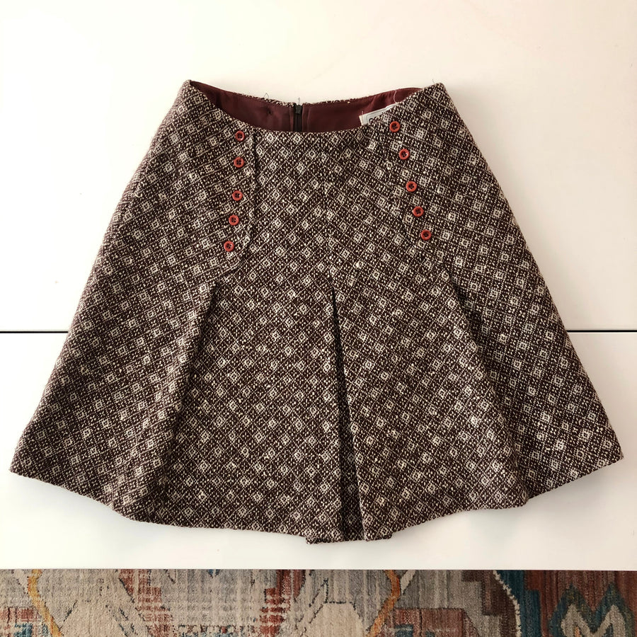 1960's/70's Brown Mini Skirt - Size Small