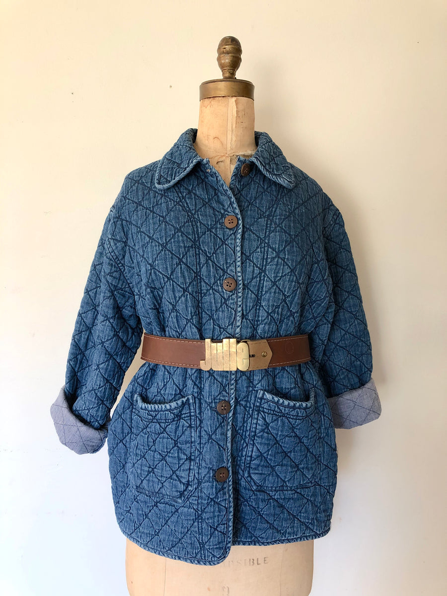 Quilted Denim Chore Jacket - Size M