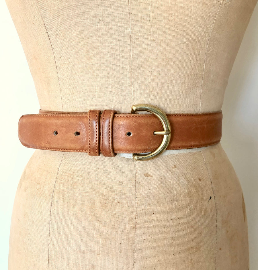 Vintage Leather Coach Belt - Waist 28-33