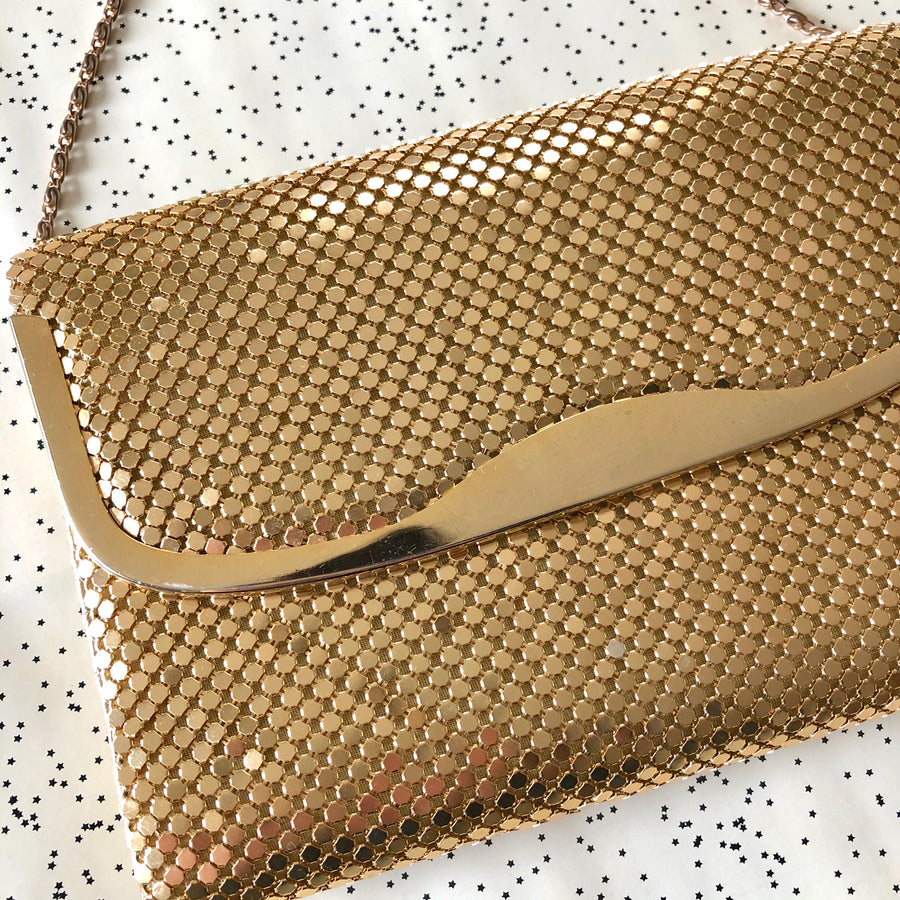 Gold Mesh Cross Body Purse