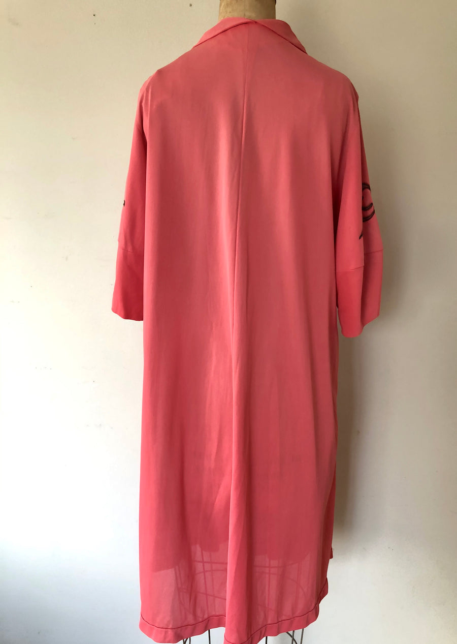 1950's Pink Bow Robe - AS IS - Size M/L/XL