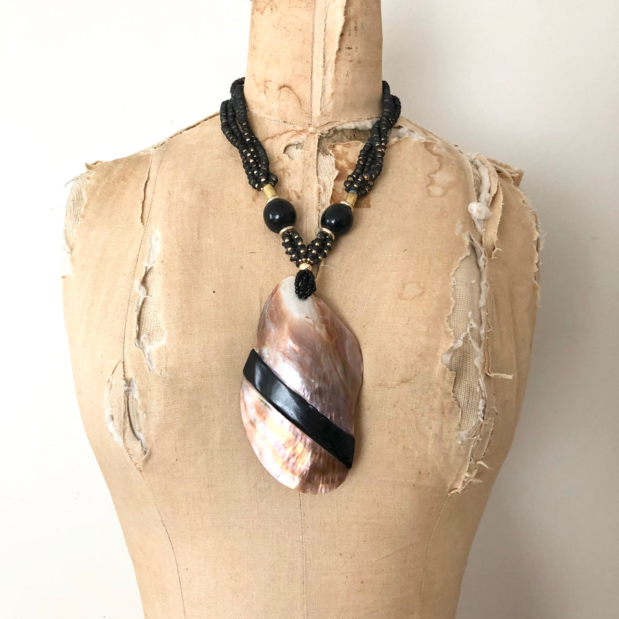 Large Shell Beaded Necklace