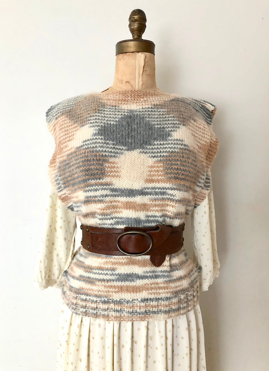 Vintage Knit Sweater Vest