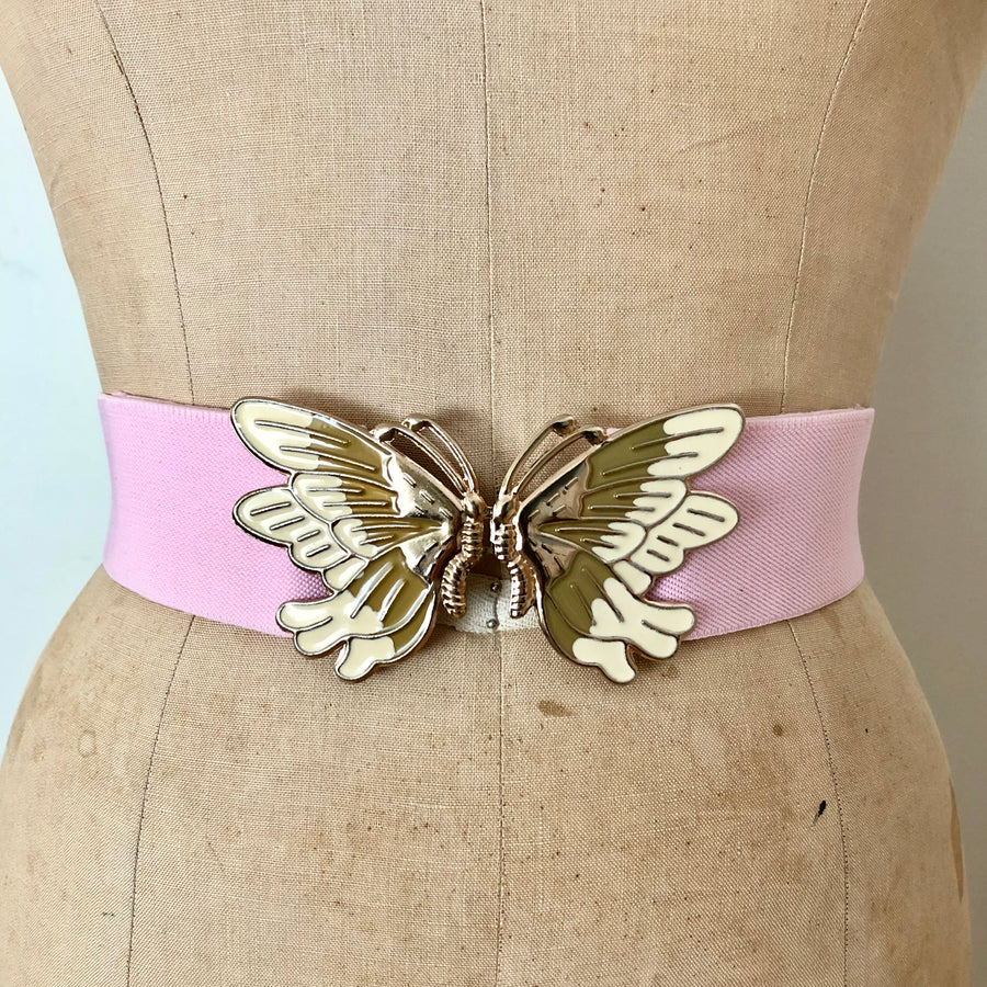 Pink Butterfly Belt - Adjustable up to 34