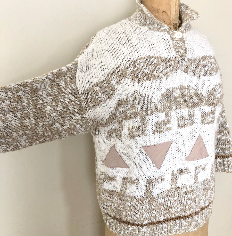 80's Triangle Minimalist Sweater - Size M