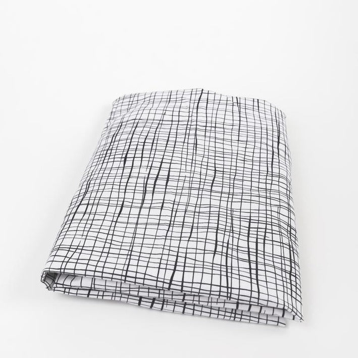 Olli + Lime Wavy Etches Fitted Crib Sheet