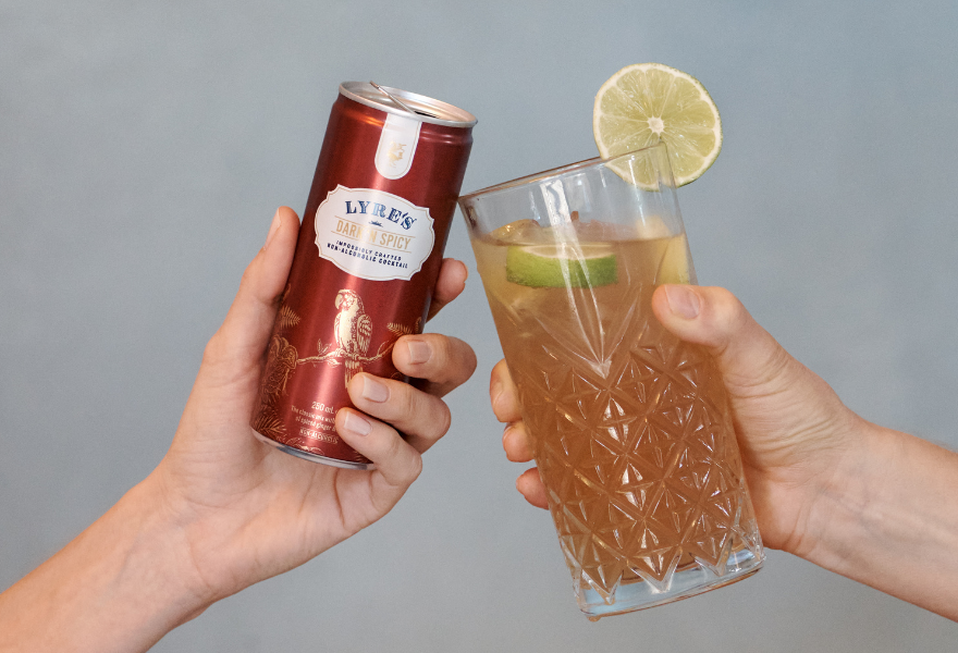 Lyre's Dark & Stormy - mocktail in a can