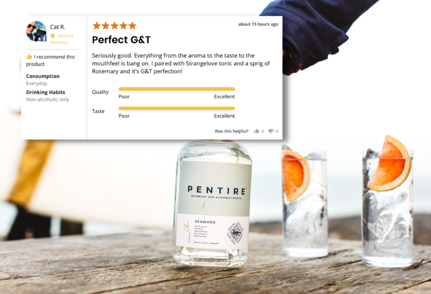 Pentire is a best selling non alcoholic gin