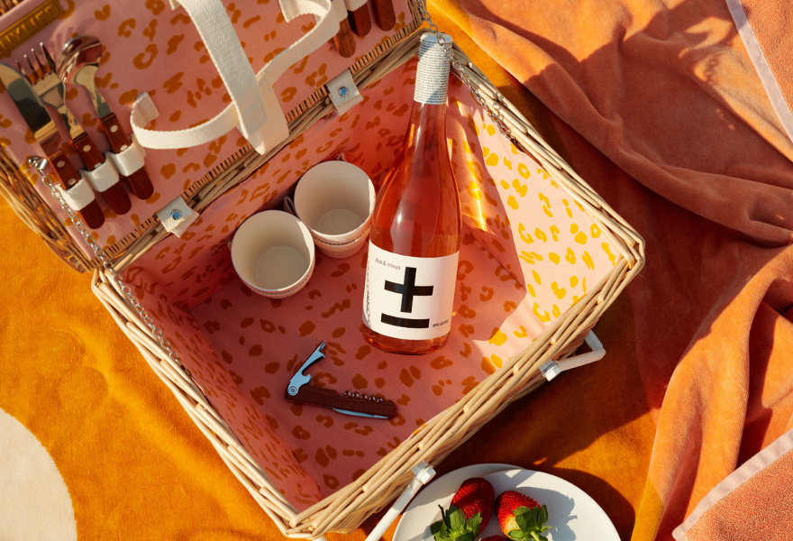 Plus and minus is a lovely wine for a picnic