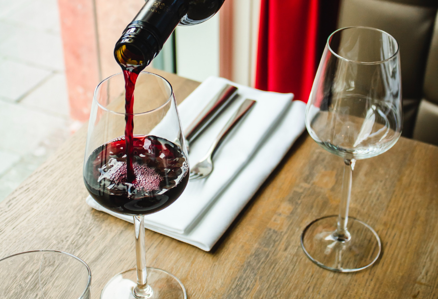 Think about food and wine pairing