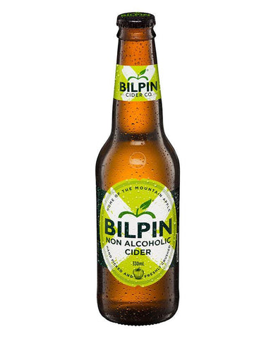 Single bottle of Bilpin non-alcoholic cider