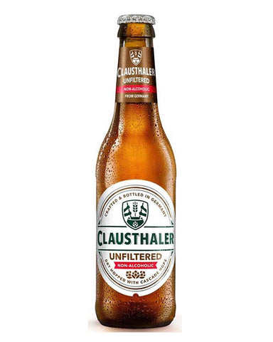 Clausthaler Unfiltered German non-alcoholic beer in bottle