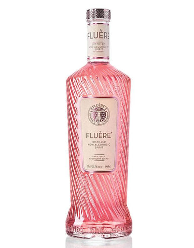 Single bottle of Fluere Non-Alcoholic  Raspberry Spirit