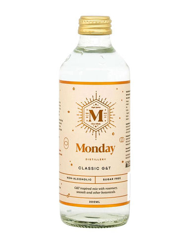 Single Bottle of Monday Classic G&T Non-Alcoholic