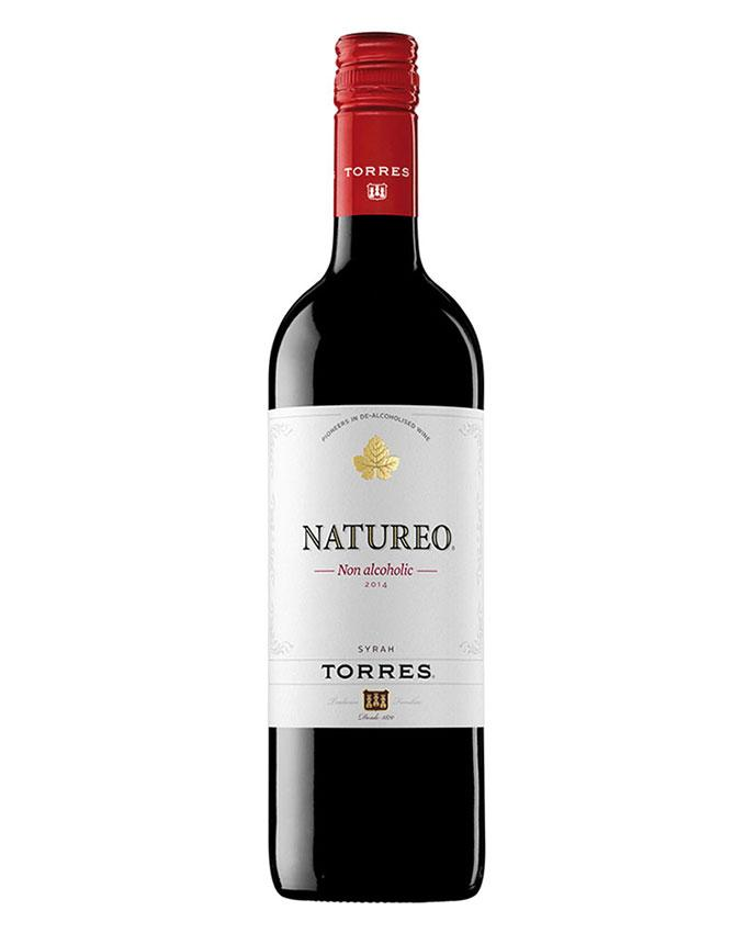 Bottle of de-alcoholised red wine from Torres-
